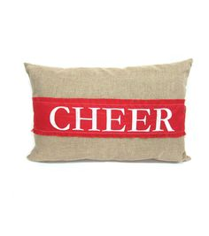 Holiday Cheer 15In X 22In Bolster Pillow-Monogram Cheer