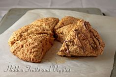 """""""Butterless"""" Peanut Butter Scones with Chocolate Drizzle - Hidden Fruits and Veggies"""