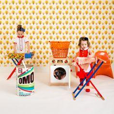 huisje, boompje, beestje - wasmachine - strijkplank - wasrekje  - photoshoot www.meneerdeuil.net  - photo Monique Ferron  - styling Studio Soet