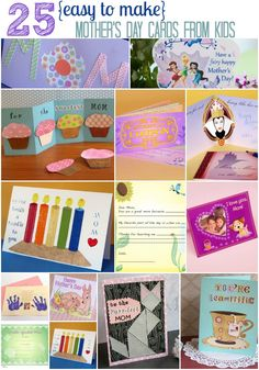 25 Mother's Day Cards that are easy to make!
