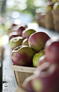 Photo: Baskets of apples! #autumn #food #apples #dof