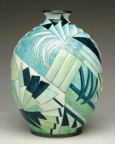Art Decó Vase (c.1920) by Camille Fauré                                                                                                                                                                                 More