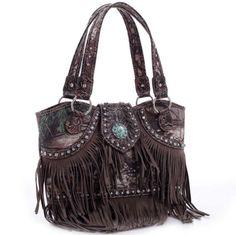 Realtree® Fringed Studded Camo Shoulder Bag Only Sold 39.99 - fashlets.com