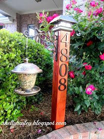Shelly's Creations: DIY House Number Yard Post - A Pinterest Inspired Project