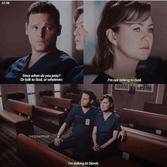 -Alex: Since when do you pray? Or talk to God or whatever. -Meredith: Not this Greys anatomy Greys Anatomy Alex, Greys Anatomy Funny, Greys Anatomy Facts, Grey Anatomy Quotes, Grays Anatomy, Derek Shepherd, Alex And Meredith, Meredith Grey Quotes, Orphan Black