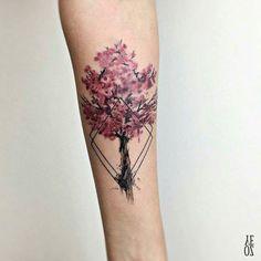 125 Best Cherry Blossom Tattoos of 2017 - Wild Tattoo Art