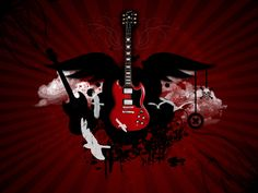 Click here to download in HD Format >>       Red Guitar Wallpaper    http://www.superwallpapers.in/wallpaper/red-guitar-wallpaper.html