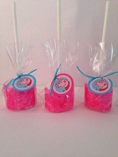 Peppa Pig Marshmallow Pops by SweetsbySmooches on Etsy