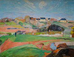Paul Gauguin Landscape at Le Pouldu (1890) oil on canvas 73 x 92 cm National Art Gallery Washington DC
