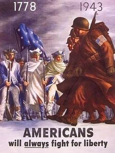 Americans Will Always Fight for Liberty WWII War Propaganda Art Print Poster Wood Mount Mounted Print - 32 x 47 cm Posters Vintage, Retro Poster, Vintage Signs, Propaganda Ww2, Ww2 Posters, History Posters, Illustration, Military History, World War Ii