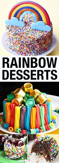 Collection of the best RAINBOW DESSERTS, rainbow recipes and rainbow party ideas, including rainbow cakes, rainbow cupcakes, rainbow cookies. Great for kids rainbow birthday party or St.Patricks' Day party! From cakewhiz.com