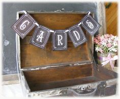 DIY Printable chalkboard Wedding CARDS banner for by PSPrintables, $2.50