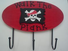 boys pirate bedroom | PIRATE Decor Boys Wall Hooks PIRATES Bedding Bedroom