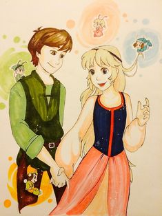 Eilonwy and Taran by griffon-rider-Ann.deviantart.com on @DeviantArt