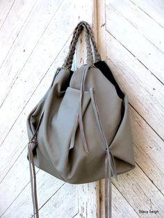 Slouchy Leather Hobo Bag