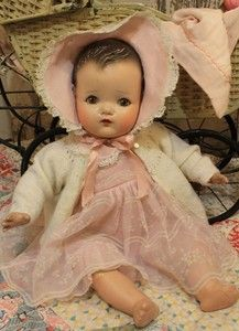 """Madame Alexander 22"""" Old Antique Vintage Composition and Cloth Baby Doll 