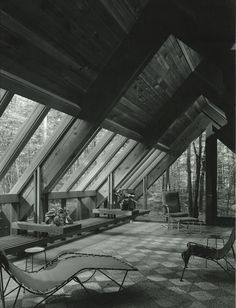The Josephine Ashmun Residence by Alden B. Architecture Drawings, Architecture Old, Small Modern Home, Mid-century Modern, A Frame House, Classic Interior, Mid Century House, Urban Planning, Brutalist