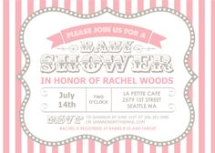 "Mixbook ""Circus Shower"" Girls Baby Shower Invitation"