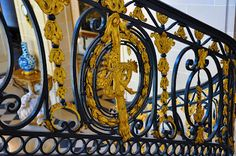 Detail of railing at Musee Nissim de Camondo by Leah Marie Brown.