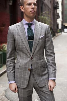 For example, in this look Alex pairs a subtle check suit with bengal stripe shirt and a repeat floral tie. Description from articlesofstyle.com. I searched for this on bing.com/images