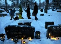 On Christmas Eve, Finns traditionally place candles on the graves of relatives. The tradition has its roots in pre-Christian times, when an...