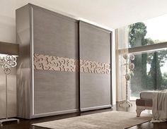 Bedroom wardrobe design with sliding doors ideas 48 Bedroom Furniture Design, Sliding Wardrobe Designs, Bedroom Cupboard Designs, Bedroom Closet Design, Bedroom Design, Diy Cupboards, Elegant Furniture, Sliding Door Wardrobe Designs, Bedroom Bed Design