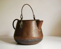 vintage copper teapot/coffee pot