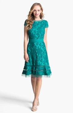 Tadashi Shoji Textured Lace Dress available at #Nordstrom