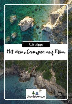 Wir erzählen euch von unserem Campingtrip auf der Insel Elba. Camper, Wild Campen, Strand, Outdoor, Signage, Campsite, Road Trip Destinations, Travel Advice, Viajes