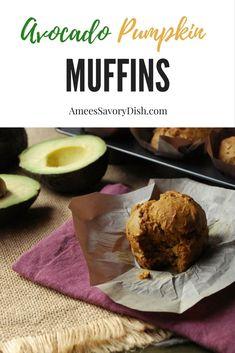 Moist Avocado Pumpkin Muffins