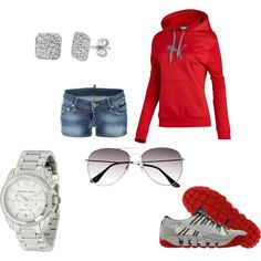 Red Puma, created by diddyme on Polyvore