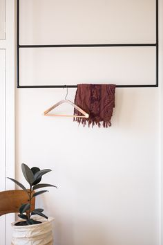 Beautiful hanging wardrobe for a minimalist space - Made in Christchurch, New Zealand Hanging Wardrobe, Stainless Steel Straws, Produce Bags, Plastic Waste, Small Studio, Minimalist Design, Art Pieces, Wall Lights, Handmade