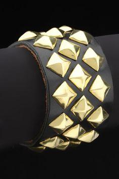 Cuff In Black and Gold