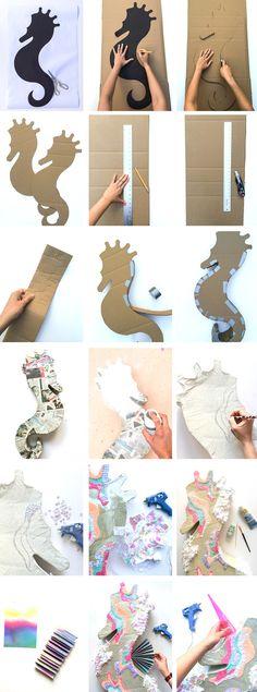 DIY Seahorse Unicorn Piñata