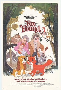 My favorite Disney movie of all time is definitely The Fox and the Hound!