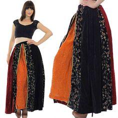 Gypsy skirt Boho skirt Maxi skirt Patchwork by SHABBYBABEVINTAGE, $70.00