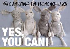 """Häkelanleitung für kleine """"Heldhasen"""", DIY von eineIdee auf DaWanda.com"""