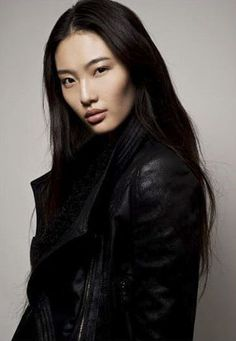 Newcomer and Chinese model Bonnie Chen, known for being a finalist in the Elite Model Look competition and her cheekbones: