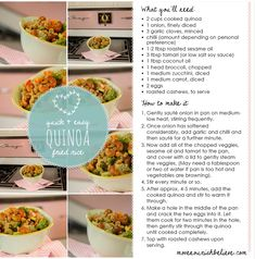 How To Cook Quinoa + 2 Recipes | Move Nourish Believe  ..... i tried this and it was GREAT! <3 Definetly a keeper.. :)