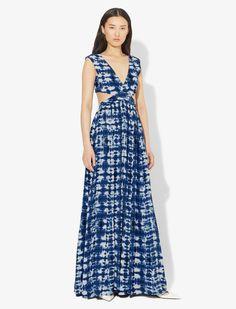 Indigo/black Synthetic->viscose Tie Dye Long Dress from Proenza Schouler. Tie Dye Outfits, Viscose Dress, Frock Design, Tie Dye Dress, Tye Dye, Shibori, Proenza Schouler, Swagg, Maxi Dresses