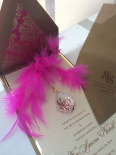 """Versailles"" hanging crystal invitation by Embellishments Invitations xo"