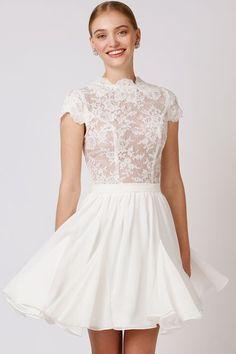 Lucette Dress | Short Wedding Dress, Love Found True, The Babushka Ballerina, Bridal Dress, Reception Dress |