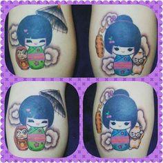 Agora sim ... meu marido conseguiu terminar minha tatuagem ... amei #tattoo #tattookokeshi #maridotatuador #amei #trabalholindo #demoromaissaiu @thiagomoraes_tattoo