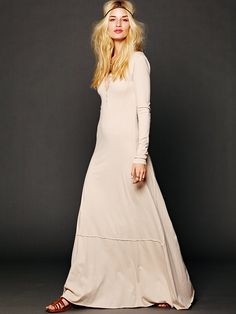 normally I find free people stupid - but I kind of love this dress...Free People Miles of Henley Dress,