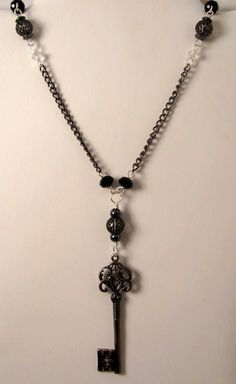 Handcrafted Gunmetal Victorian Key Necklace by GypsyWhims on Etsy, $25.00