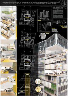 Best Indoor Garden Ideas for 2020 - Modern Concept Board Architecture, Architecture Presentation Board, Architecture Portfolio, Japanese Architecture, Art And Architecture, Presentation Board Design, Building Design, Building Building, Ideas