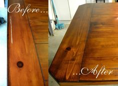 "How to Restore a ""Wrecked"" Dining Table  @  brittanyMakes"