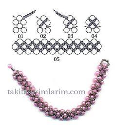Free pattern for bracelet Peles Bead Jewellery, Seed Bead Jewelry, Bead Earrings, Diy Jewelry, Jewelry Making Tutorials, Beading Tutorials, Seed Bead Tutorials, Beaded Jewelry Patterns, Beading Patterns