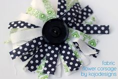 Baby Sock #Corsage #diy #idea (fabric flower corsage)