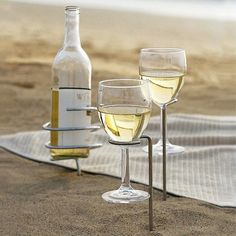 Beach Life.... I'm going to buy these for you when you move to the beach!!! Can't have sand in your wine!!!